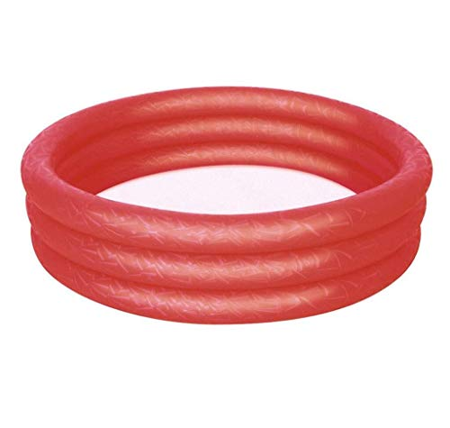 TISS Aufblasbarer Pool |Planschbecken im Freien mit Sportschießen, Kinderschwimmbecken for Gärten 183 * 33CM (Color : Red)