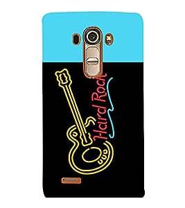 printtech LED Hard Rock Guitar Back Case Cover for LG G4::LG G4 H815