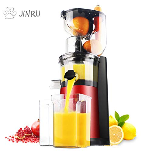 JINRU Juice Fruit and Vegetable Juice Machine Extractor, Easy to Clean Juicer, Stainless Steel, Double Speed, 400W, BPA Free