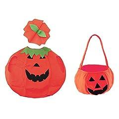 Idea Regalo - Tinksky Vestito di costume da zucca di Halloween vestito vestire i vestiti con il sacchetto per la scuola di fotoricettore del bambino promenade di Halloween dei costumi del partito dei bambini decorazione