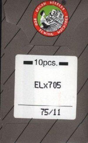 ORGAN 10 Nadeln ELx705 Stärke 75 für Babylock Overlocker und Cover