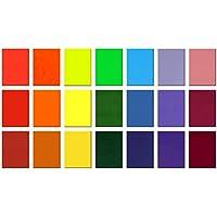 20unidades Cera placas de 110x 80mm para manualidades y velas verzieren, verzier Cera Set, arcoíris, 110 x 80 x 0,5 mm