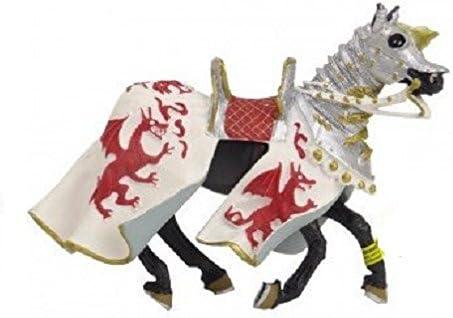 Plastoy - 62031 - Figurine-Cheval Aux Dragons, Dragons, Dragons, Blanc et Rouge   Le Roi De La Quantité  473067