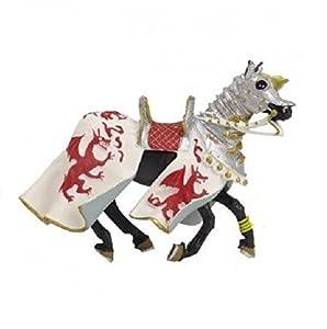 Plastoy - 62031 - Figurine-Cheval Aux Dragons, Blanc Et Rouge