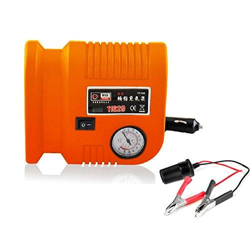 nuzamas Tire inflador portátil compresor de aire 150PSI 3adaptadores de válvula, 2.6M/8.5pies...