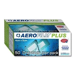 Aerofilm Plus Transparent Waterproof Island Dressing, 4cm x 5cm (50 per box)