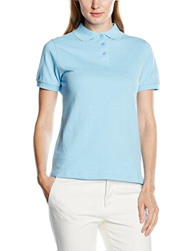 Baumwolle Polo-shirt (Intimuse Damen Poloshirt, Kurzarm, Blau (Hellblau 028), Medium)