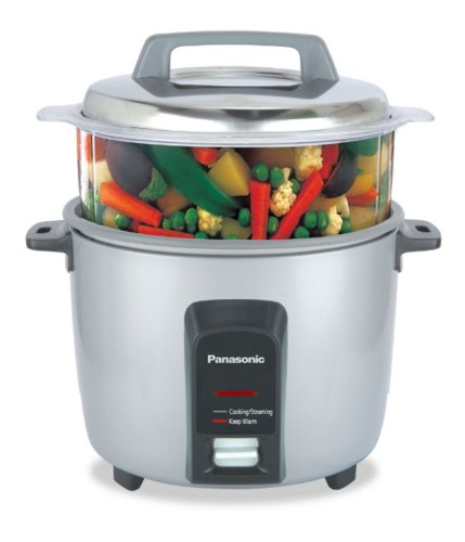 Panasonic SR-Y18FHS 660-Watt Automatic Electric Cooker 0.9 Litre with Non Stick Cooking Pan & Steamer