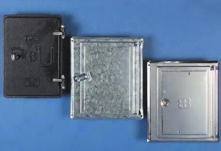 UPMANN Kamintürl Edelstahl V2A mit Vierkantverschluss, 1 Stück,10119