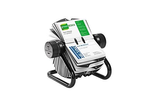 Durable 248101 Visifix Rollkartei, für 400 Visitenkarten, Register A-Z, schwarz