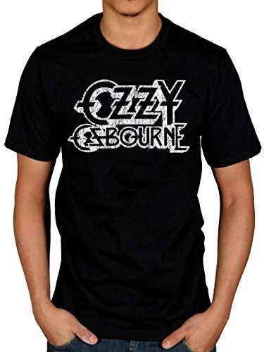 AWDIP Camiseta Oficial de OZZY Osbourne con Logo Vintage Negro...