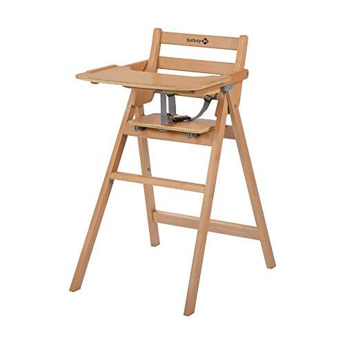 Hochstuhl Nordik, Klappbarer Babyhochstuhl aus Holz mit großem Sitz, nutzbar Ab ca. 6 Monate bis 3 Jahre (Max. 15 kg), Natural