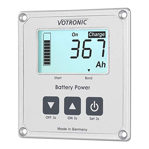 Votronic Batteriecomputer 400-S, incl 400 Amp-Shunt, Batteriekapazitätsanzeige
