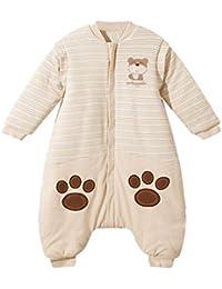 Sleep Bag Saco De Dormir para Bebé Pierna Dividida con Mangas Extraíbles Cremallera Bidireccional Algodón Orgánico