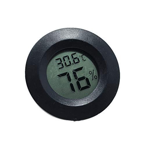 BulzEU Mini Round Digital Hygrometer Thermometer für Reptilien Terraristik Terrarien & Zubehör (Schwarz)