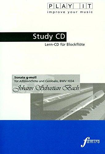 Preisvergleich Produktbild Study-CD for Recorder - Sonate g-moll