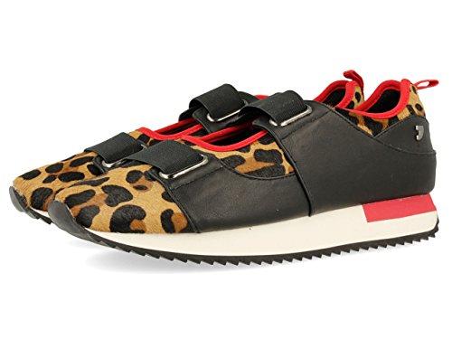 Gioseppo 30609, Zapatillas, Rojo (Leopardo)