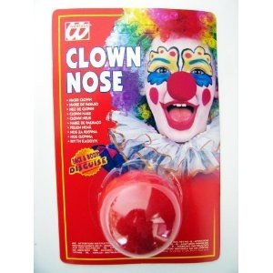 Clown Nose Sponge Red Accessory for sCircus Fancy -