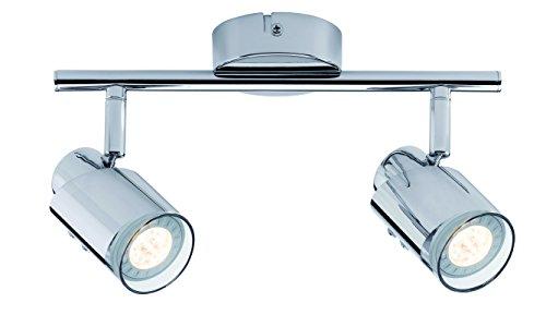 Paulmann 60179 Spotlight Futura LED Stange 2x3,5W GU10 Chrom 230V Metall 601.79 Deckenleuchte Lampe LED Deckenlampe Deckenstrahler -