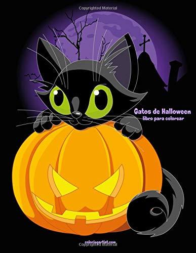 Gatos de Halloween libro para colorear 1