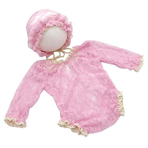 Ssowun Neugeborene Fotografie Kostüm,Baby Wrap Photo Prop Spitze Stretch Newborn Fotoshooting Wraps für die Babyfotografie EINWEG Verpackung