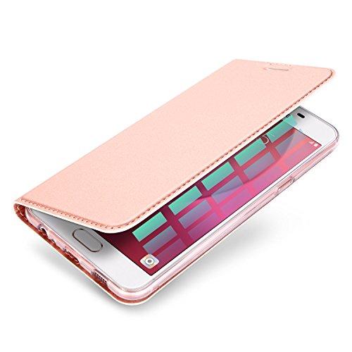 Samsung Galaxy A52016Schutzhülle, eastcoo Ultra Slim Dünn PU Leder Folio Flip Schutzhülle mit Magnetisch Kartenhalter Ständer TPU Hülle Case Klar für Samsung Galaxy A52016, plastik, blau, A8 2016 rose gold