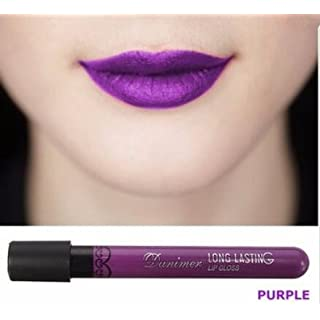 Bluelover 8 Colors Halloween Long Lasting Matte Velvet Lipstick Waterproof Lip Gloss Vampire Style - Purple