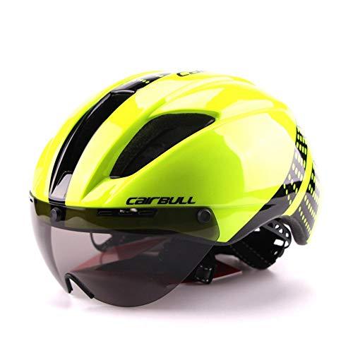 Gafas TT temporizador bicicleta de montaña casco de una sola pieza casco de diseño de una pieza lente magnética extraíble