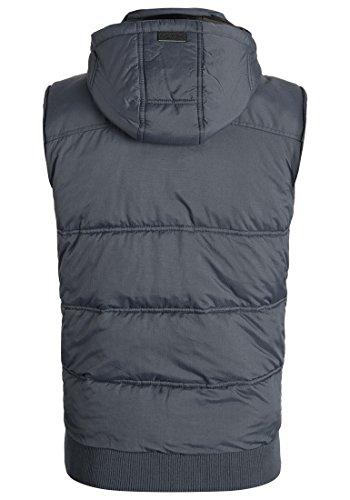 BLEND Rob Herren Weste Steppweste mit Kapuze aus hochwertiger Materialqualität Ebony Grey (75111)