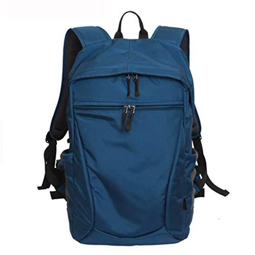 Kamera Rucksack Outdoor Große Kapazität Wasserdichte Nylon SLR Digital Rucksack Multifunktions Lässig Wilde Laptop Digitale Reisetasche mit Regenschutz,Blue