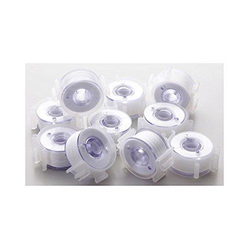 Brother Kunststoffspulen vorgespult in Clips für Näh-Stickmaschinen (No.60/11,5 mm /10 St.)