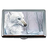 Yanteng Cigarette Case & Stash Box,Winter animal forest wolf Business Card Holder