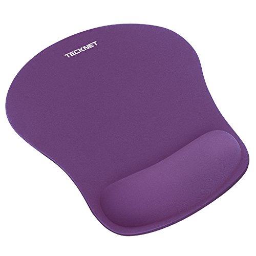 TECKNET Maus Pad, Leise Mausmatte Ergonomisches Komfort Mousepad mit Handgelenkauflage