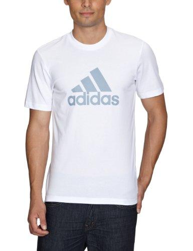 adidas Herren T-Shirt Essentials Logo Tee Men White/Silver L -