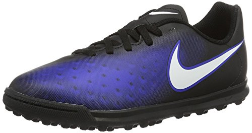 Nike Unisex-Kinder Magista X Ola II TF Fußballschuhe, Blau (Black/White/Paramount Blue/Hyper Orange), 37.5 EU
