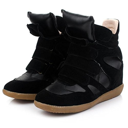 womens-ladies-high-top-wedge-hidden-heels-ankle-boots-sneaker-elevator-shoes-black-3uk