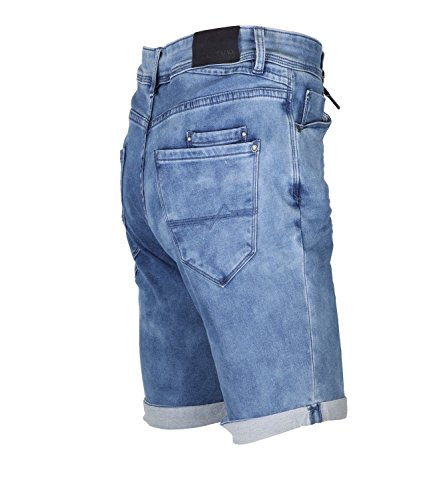 Urban Surface Herren Bermuda Shorts Jogg-Style Middle Blue