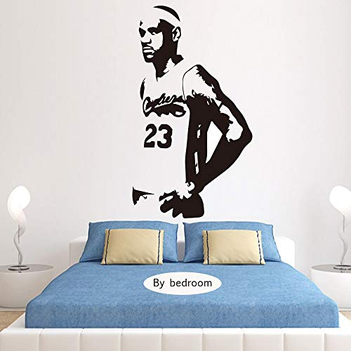 LeBron James Lakers Basketball Vinyl Wandaufkleber Für Kinder Schlafzimmer Dekor Wanddekoration Wohnzimmer Tapete Poster 58 * 102 cm
