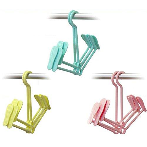 Trocknen Schuhregal Hängen Multifunktional Kunststoff 360-Grad-Drehung Vier Haken Schwere Güter Innerhalb Von 10 Kilogramm Tragen Können,3Pack
