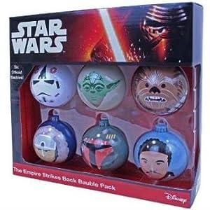 Star Wars 599386031 - Bolas de Navidad el Imperio contraataca (6uds)