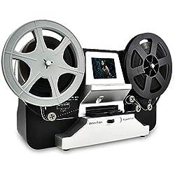 Scanner de pellicule pour Films 8 mm et Super 8, Film Scanner Digitalisation de Films Super 8 Digital Converter HD 1080P 2.4''LCD
