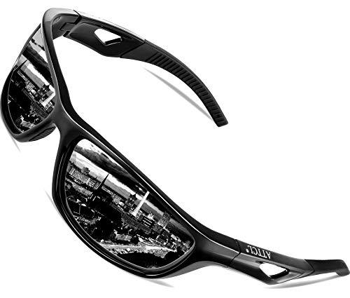 ATTCL Herren Sonnenbrille Polarisierter Sports Fahren Golf Laufen Superleichtes Rahmen 306 Black
