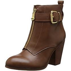 Report Signature Frauen Onabel Pumps rund Leder Fashion Stiefel Braun Groesse 10 US /41.5 EU