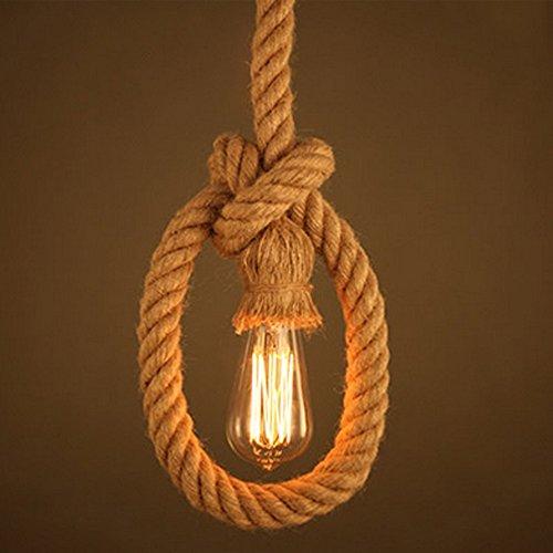 Flourish Rope Hanging Pundent Light / Fancy Light Urban Retro Style.