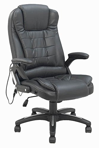 Bürostuhl Chefsessel mit Massagefunktion Schwarz/Beige mit Heizfunktion