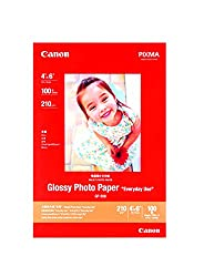 CANON 210 GSM 4X6 GLOSSY PHOTO PAPER 100 SHEETS