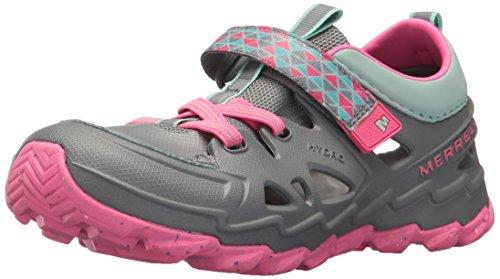 Merrell Kids' Hydro 2.0 Sandal, Grey, 9 Wide US Toddler