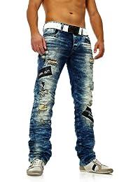 Les mailles déchirées jean pour homme effet délavage redbridge bleu clair