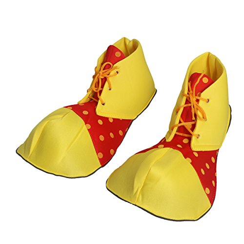Tinksky Große Clown Schuhe Dot Halloween Kostüm Clown Schuhe für Frauen Männer (One (Kostüm Halloween Schuhe Clown)