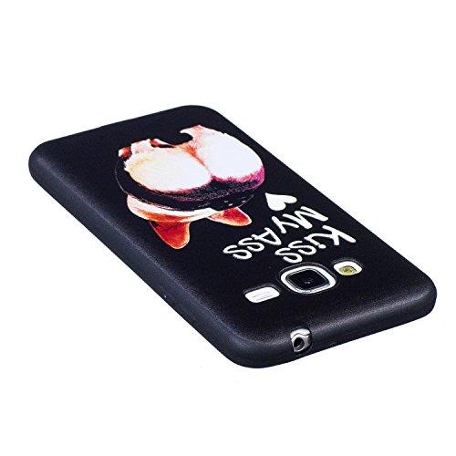 J3 Hülle ,Samsung J3 Shell Case , Galaxy J3 Black Hülle, Cozy Hut® [Liquid Crystal] [Matte Black] [With Lanyard/Strap] Samsung Galaxy J3 Ultra Slim Schutzhülle ,Anti-Scratch Shockproof und Schutz vor  Hintern